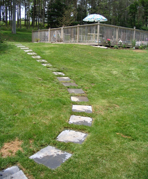 Stepping Stone Path To Pool